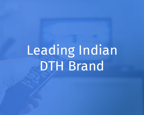A leading DTH brand increases cross-sell of add-on packs by 10% – 12%